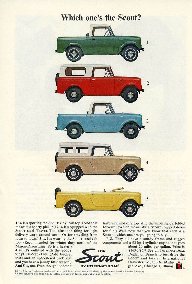 1964 scout international advertising sports afield march was my dads car in the late and early was a like number 2