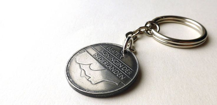 Dutch coin keychain, Men's accessory, Gifts for him, Guys gift, Wallet, Vintage keychain, Holland, Netherlands, Charm, Coin, Keychain, 1986 by CoinStories on Etsy