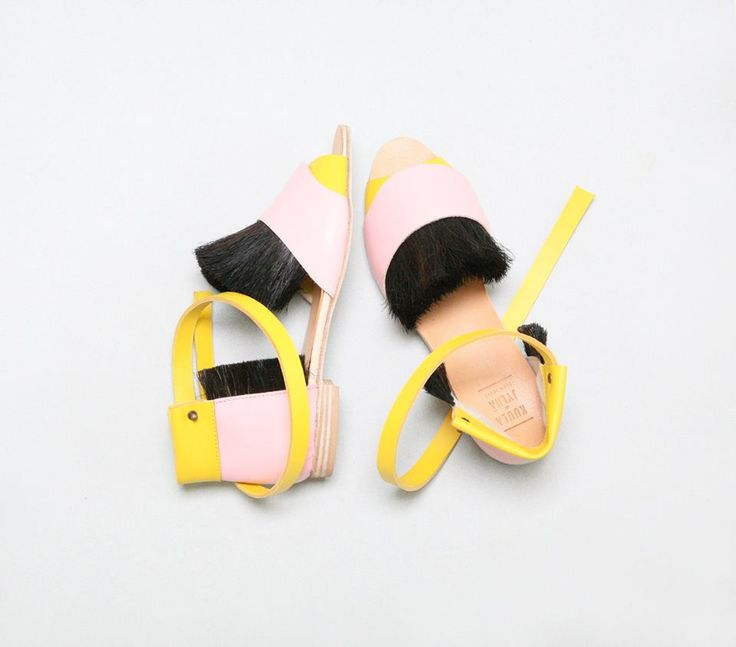 Pink&Yellow, The Wild King sandals SS2015 // Kuula + Jylhä