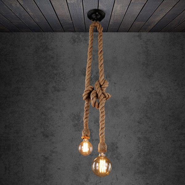 Epic Deckenlampen Seil Deckenlampe ein Designerst ck von Rotkaeppchen bei DaWanda