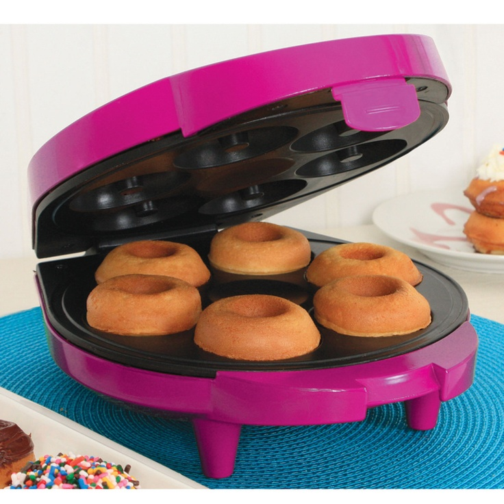 Holstein Doughnut Maker In Magenta - I would enjoy this, baked, not fried
