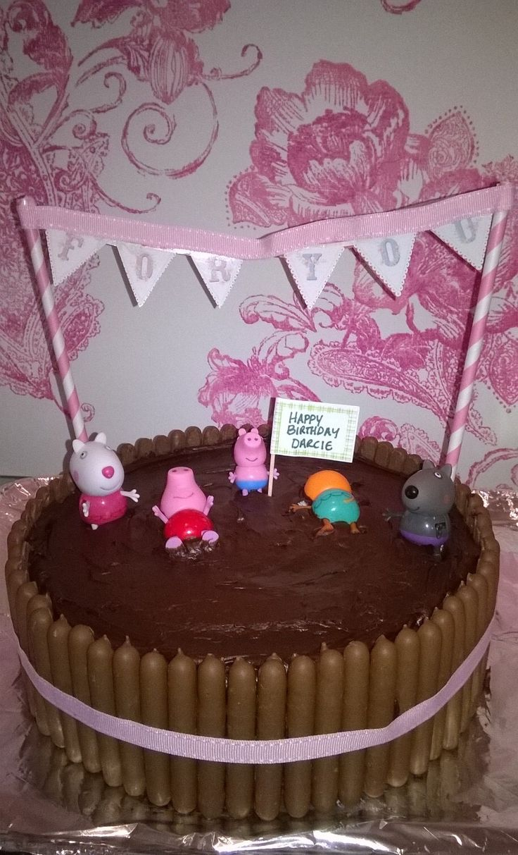 Peppa Pig Chocolate Cake