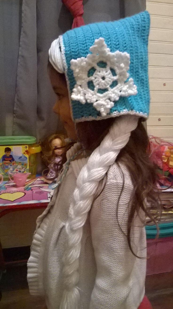 Gorrito inspirado en Elsa de Frozen, tutotial original de Ahuyama Crochet