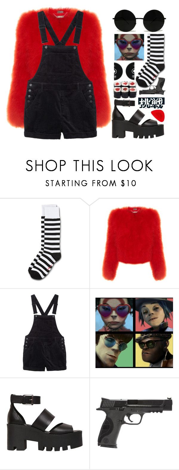 """""""   n o o d l e   """" by eduardhapassamani ❤ liked on Polyvore featuring Dr. Martens, Alexander McQueen, Monki, Windsor Smith, Smith & Wesson, Apex, alternative, gorillaz, Noodle and humanz"""