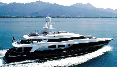 Yacht BLUE SCORPION 52 m, black yacht.