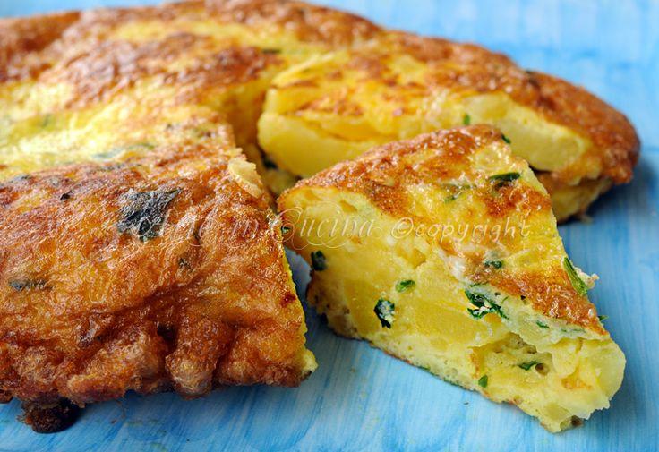 Frittata di patate e scamorza ricetta facile   Arte in Cucina
