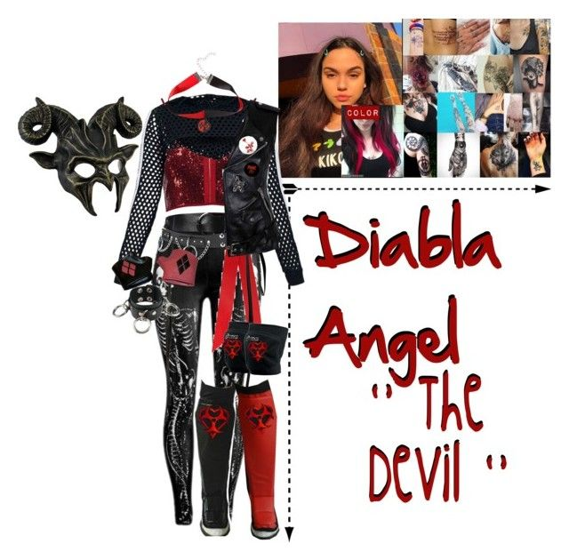 """""""🐏 Diabla Angel 🐏- Attire Redesign"""" by iron-maiden-amy ❤ liked on Polyvore featuring Boohoo, Rockins, Dorothee Schumacher, Asics, 3.1 Phillip Lim, Hot Topic, Humör, WWE, wweoc and wweattire"""