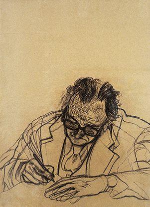 Kitaj, RB. The Poet Writing écrire