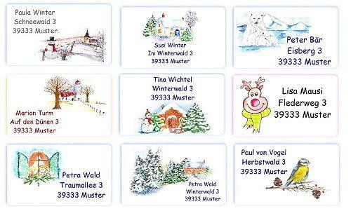 Adressaufkleber Weihnachten - jede menge neue Motive sind eingetroffen - www.kreativzauber.de