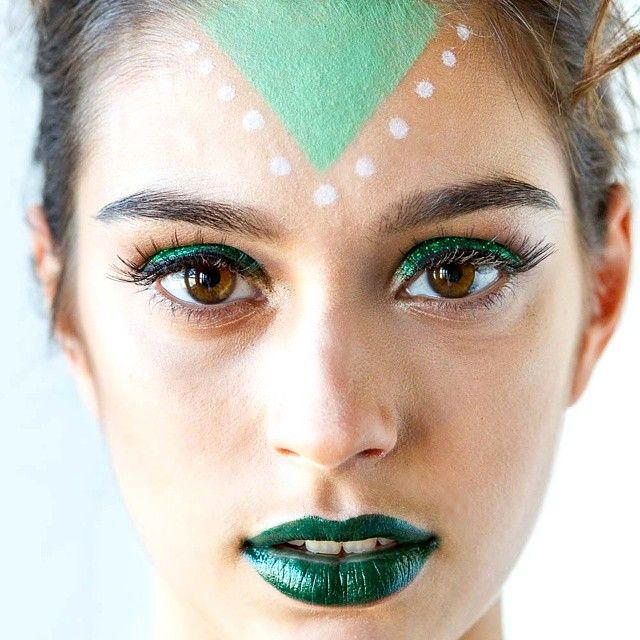 green alien makeup - Google Search