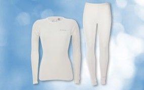 Everton Damen Thermo Unterwäsche Set weiß