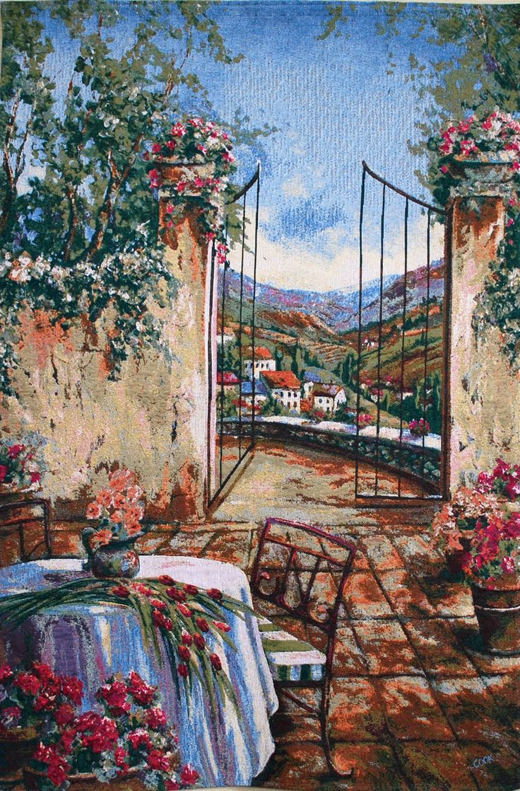 Table for Two European Wall Tapestry