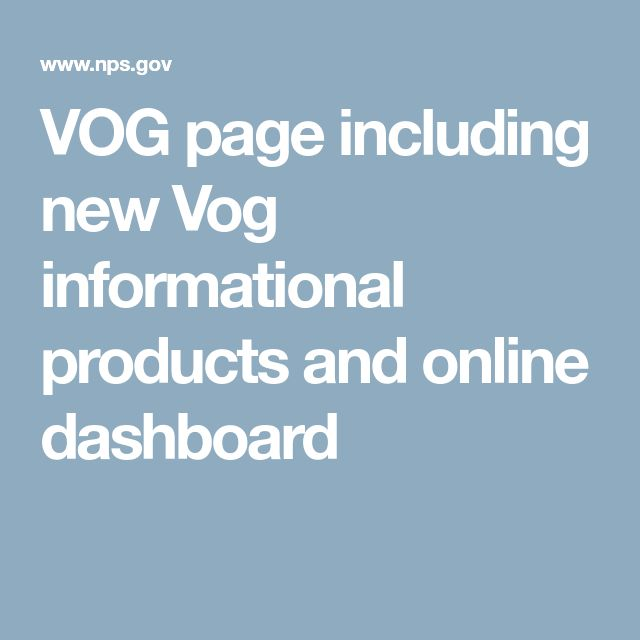 VOG page including new Vog informational products and online dashboard