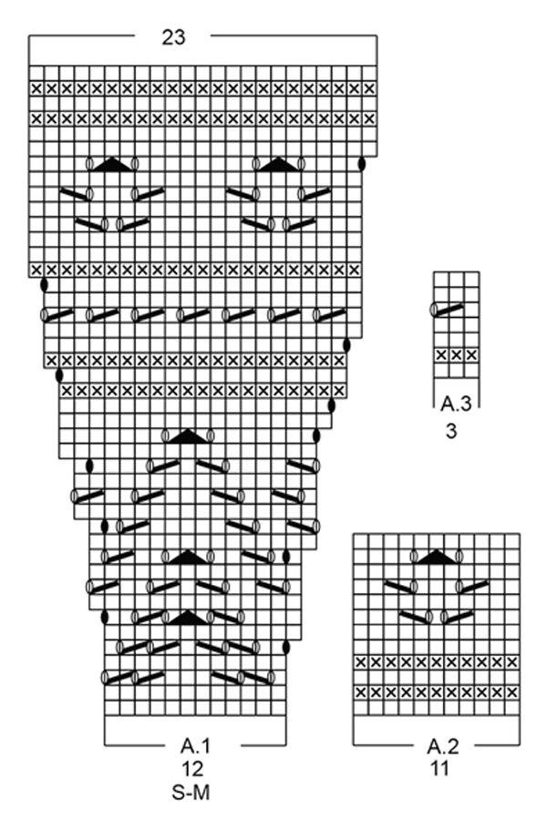 Туника спицами от Drops Design с укороченным рукавом и ажурной кокеткой | Блог elisheva.ru