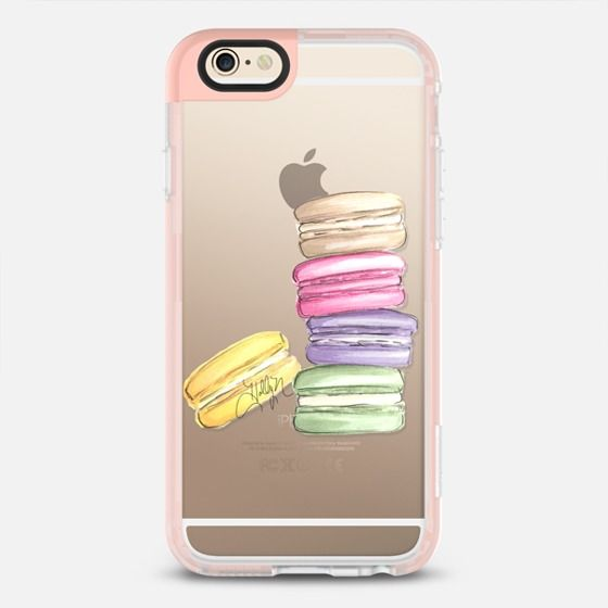 Macarons Part II (Transparent) - New Standard iPhone 6 Case in Peach Pink by @hnillustration | @casetify