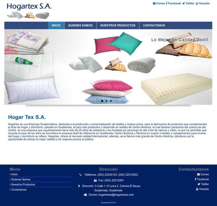 Hogartex es una empresa guatemalteca, dedicada a la producción y comercialización de textiles y materia prima, para la fabricación de productos que complementan el área de hogar y dormitorio, ubicada en Guatemala. Para saber más de ellos visita www.hogartexsa.com