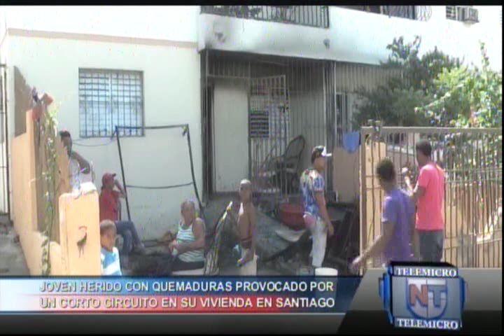 Joven Herido Con Quemaduras Provocado Por Un Corto Circuito En Su Vivienda En Santiago