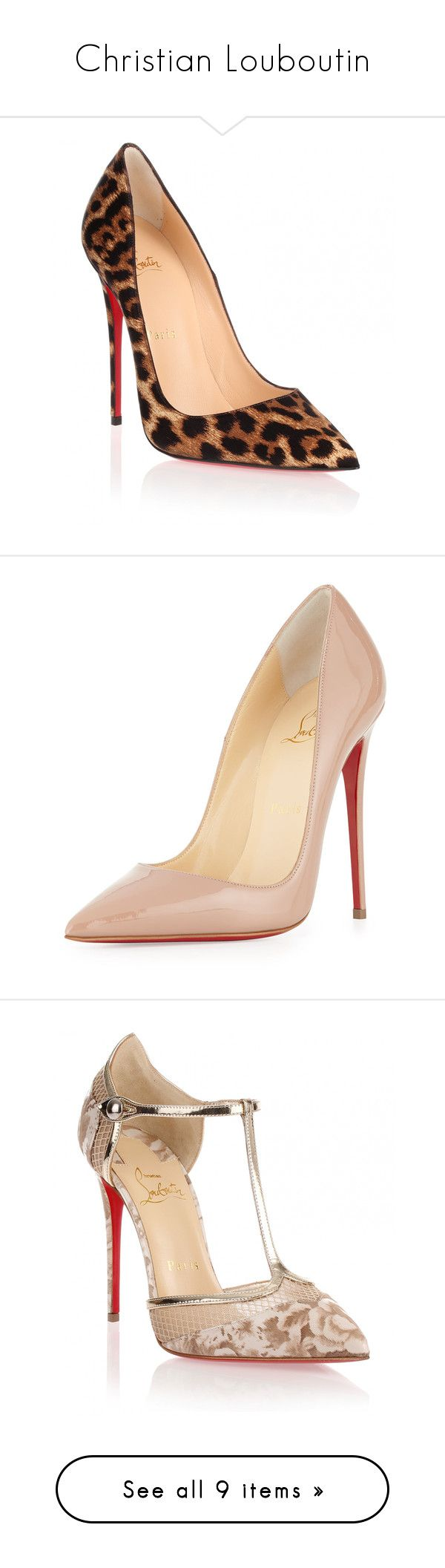 """""""Christian Louboutin"""" by lovelyfranckie ❤ liked on Polyvore featuring shoes, christianlouboutin, pumps, heels, christian louboutin, louboutin, brown, high heeled footwear, high heel stilettos and pointed toe pumps"""