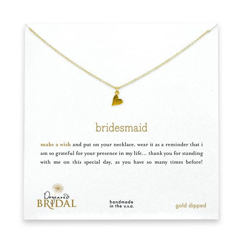 cute bridesmaid gifts...the company also has necklaces for maid of honor and flower girls!