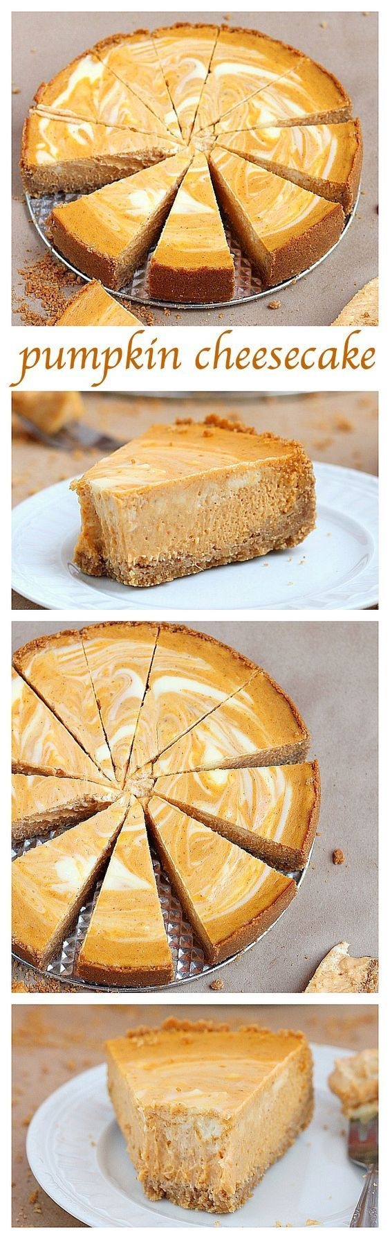 Pumpkin swirl cheese cake is so yummy! It's not super pumpkinie flavored, it just the right amount of flavor. I would love to make this one day.