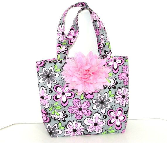 So Adorable .....  Every little girl will love to have this one of kind tote bag. This little purse is made from 100% cotton fabric. This purse is