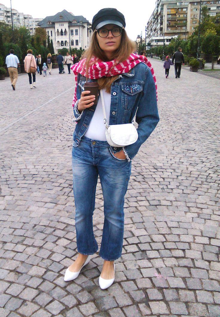 All denim #jeans #alldenim #glassesandme #coffee
