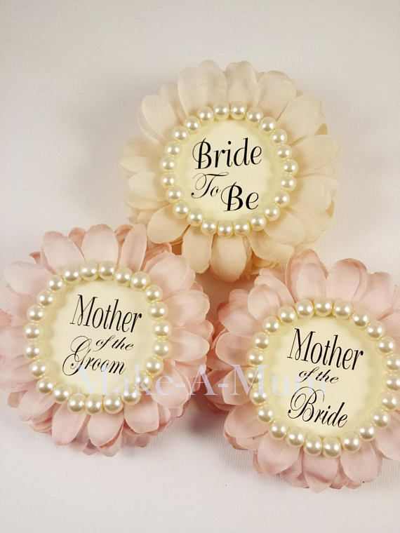 Blush Wrist or Pin Bridal Shower Corsage Bridal shower favor