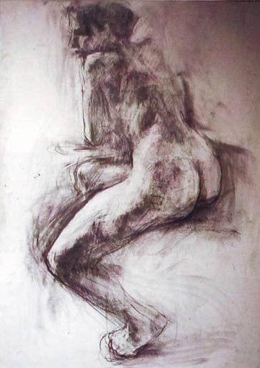 Никос Кристофоракис, AKT 4, оловка, 70x100 цм, 1998.
