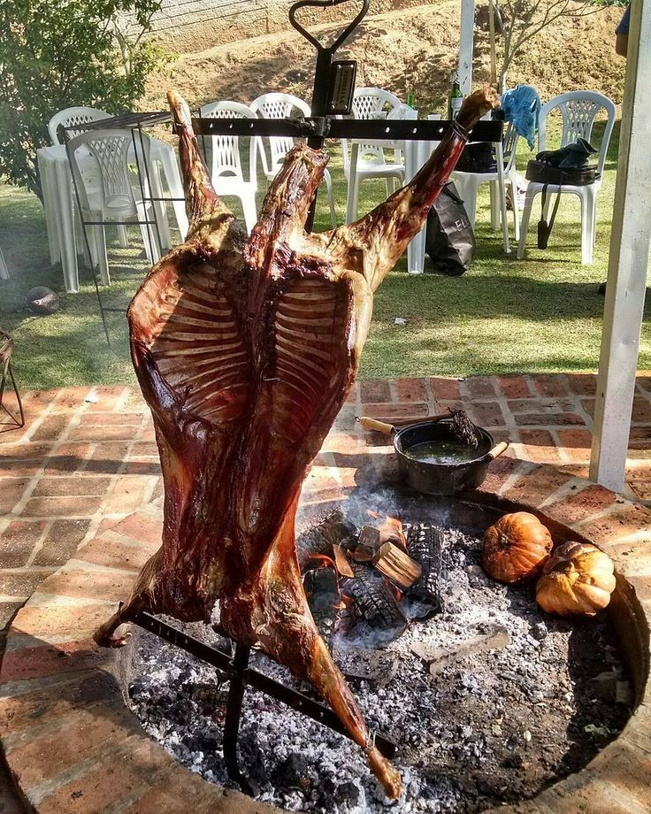 This is about as primal as it gets. Whole lamb cooked over an open fire. Pic courtesy of @roberto.bocabello