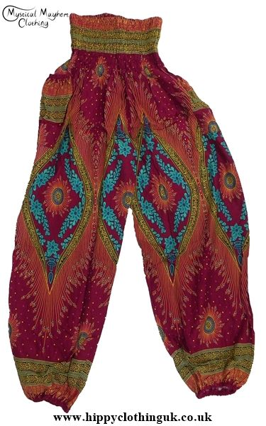 http://www.hippyclothinguk.co.uk/products-page/harem-genie-trousers/burgundy-harem-genie-trousers-2/