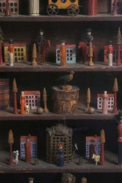 The Antique Dealer, Barry Cohen Collection...Antique Erzebrige Wood Carvings.