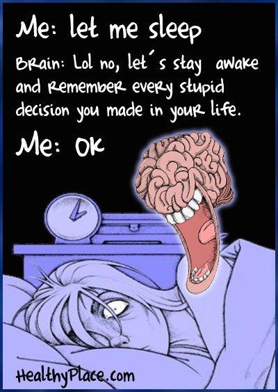 Sleeping problems humor