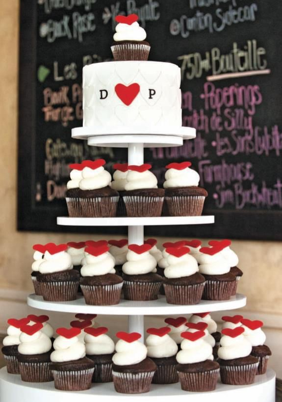 Vow Renewal Cake? Cupcakes are a MUST! I like this idea better than a traditional wedding cake. ;)