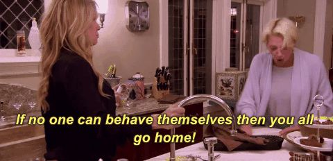 season 8 rhony bravo 8x09 real housewives of new york city real housewives of nyc dorinda medley if no one can behave themselves then you all go home trending #GIF on #Giphy via #IFTTT http://gph.is/1XikPqg