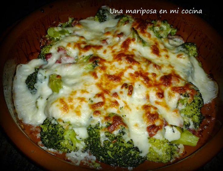 Gratinado de brocoli y jamon**** | Verduras | Pinterest
