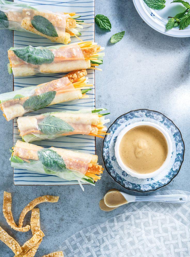 Recette de rouleaux croustillants au tofu