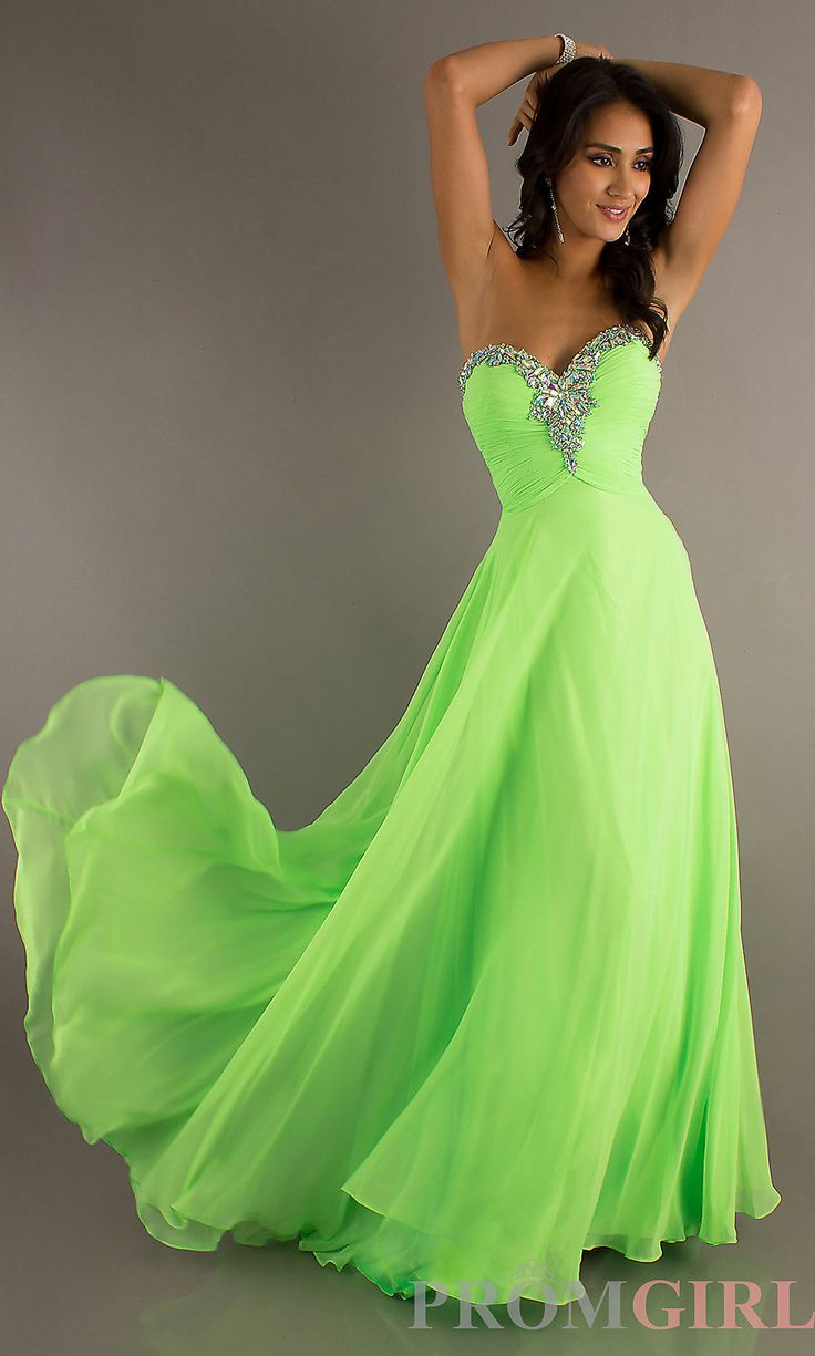 Best 25 lime green dresses ideas on pinterest neon green prom dresses celebrity dresses sexy evening gowns at promgirl long flowing strapless sweetheart ombrellifo Image collections