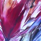 Celebrate Red, an encaustic painting