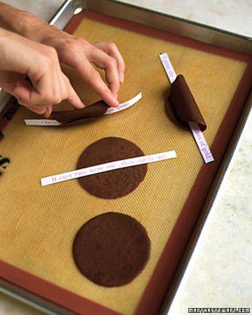 Fortune-Cookie Favors: Fortune-Cookie Recipe - Martha Stewart