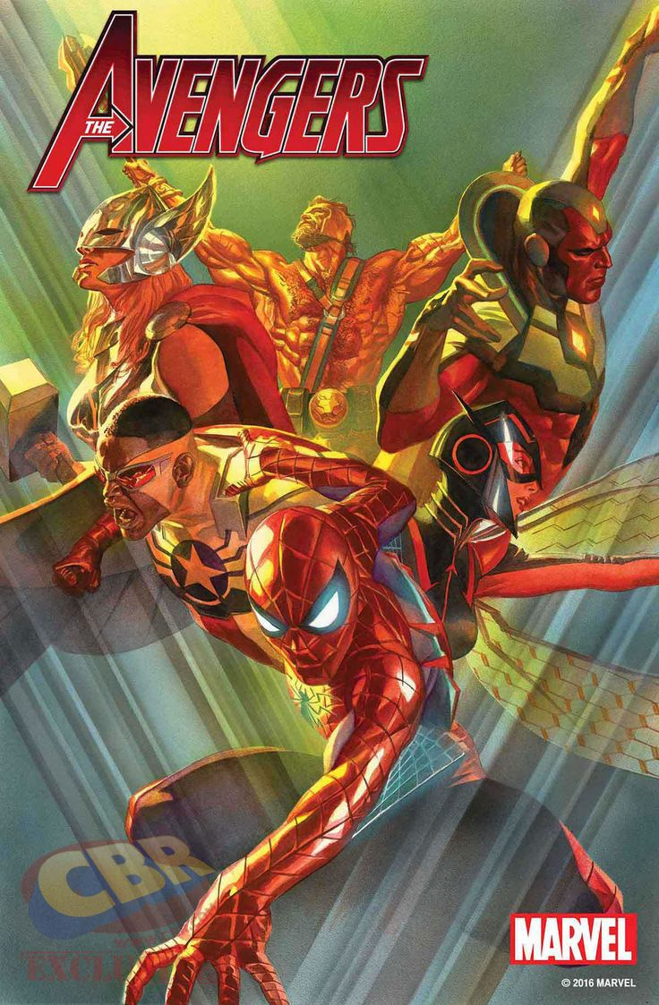 """Spider-Man Takes the Lead in All-New """"Avengers #1 Cover by Alex Ross"""