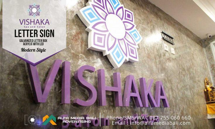 Huruf timbul Acrylic Galvanis VISHAKA | Alfa Media Bali