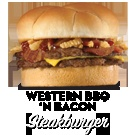 Steak n Shake - Western BBQ 'N Bacon Steakburger = 39grams of Fat  THIS IS THE BEST TASTING BURGER EVER I LOVE IT