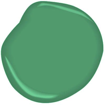 Ben Moore Dunmore Green CW-540. This historic yet high-spirited green is based on the 1770s orders and account books of Lord Botetourt for green wallpaper at the Governor's Palace.