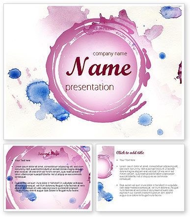 http://www.poweredtemplate.com/11402/0/index.html Watercolor Stains PowerPoint Template
