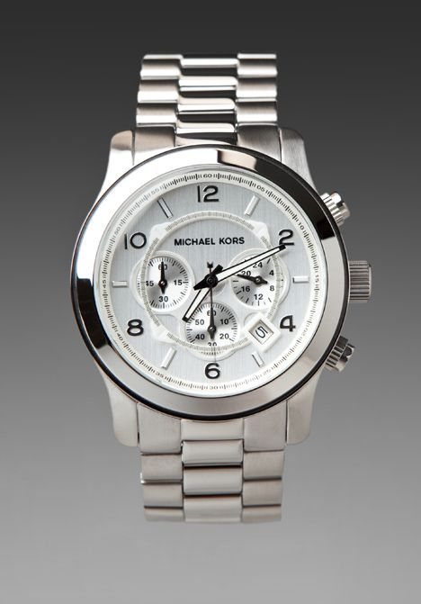 MICHAEL KORS Runway Watch in Silver at Revolve Clothing - Free Shipping!