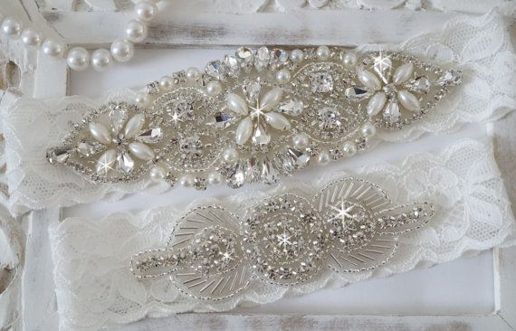 SALE  SALE  Wedding Garter Set Bridal Garter Set by OneFancyDay
