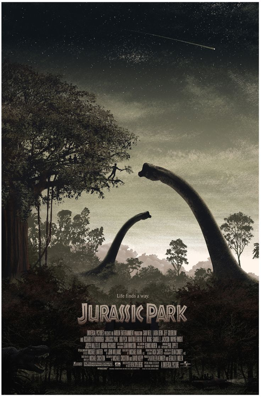 Jurassic park card 3 by chicagocubsfan24 on deviantart - Jurassic Park Life Finds A Way Mondo Tees Poster Art