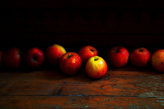 Rembrant's apples -- I like the contrast between light and dark more than the realism.