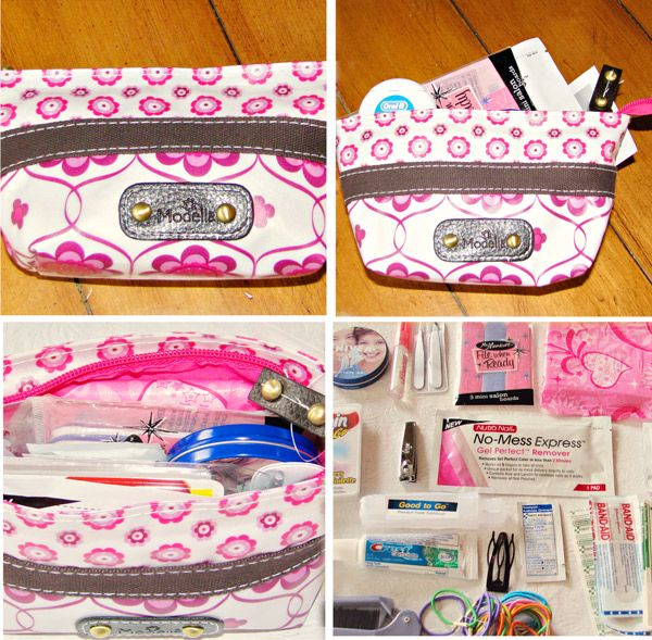 For girls in a pinch emergency kit.