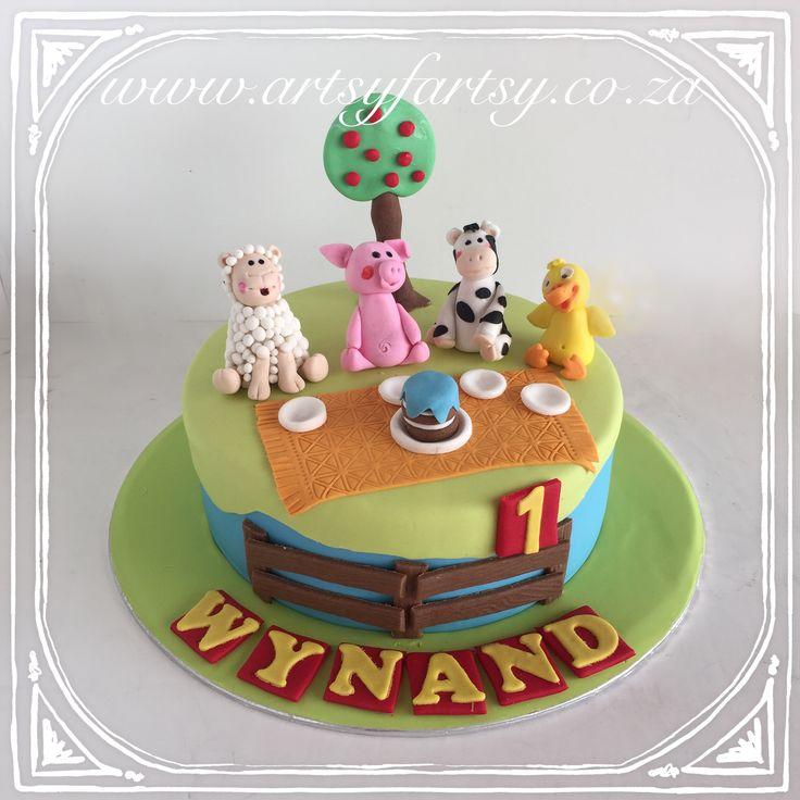 Farm Yard Cake #farmyardcake